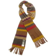 Extra long striped scarf