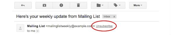 Borrar suscripción de correo