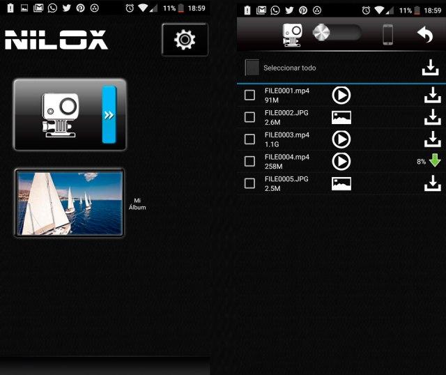 nilox-evo-4k-app