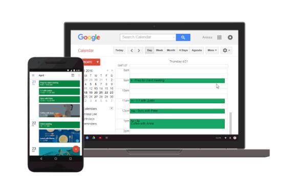 Google Chrome Calendar app