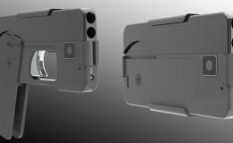 pistola con forma de móvil