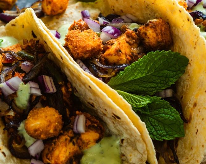 Tofu Tacos with Cilantro Sauce
