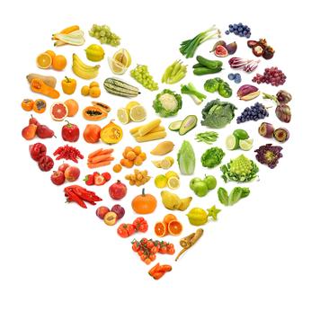 healthy kids - eating rainbow - food heart