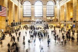 Stop being so hard on yourself - people at grand central station
