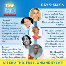 Day 5 Join me and 27 amazing experts online May 2nd to 9th for the Third Biannual Children & Teen's Health Summit, brought to you by the Lotus Health Project.