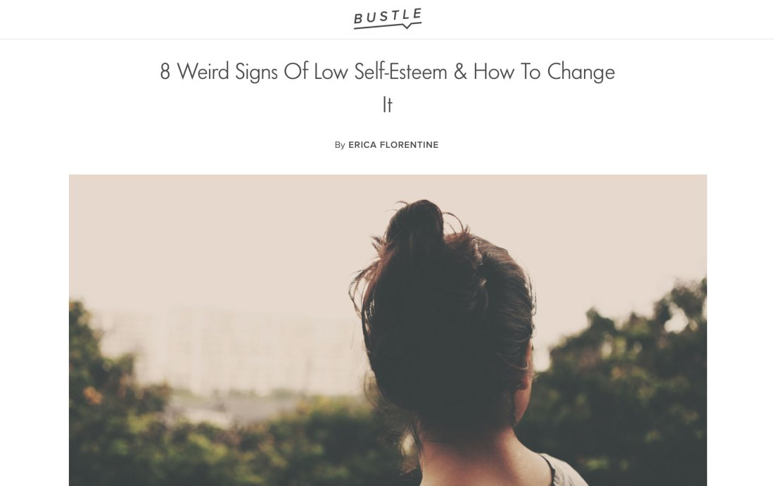 8 Weird Signs Of Low Self-Esteem & How To Change It