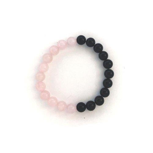 Rose Quartz Onyx Bracelet