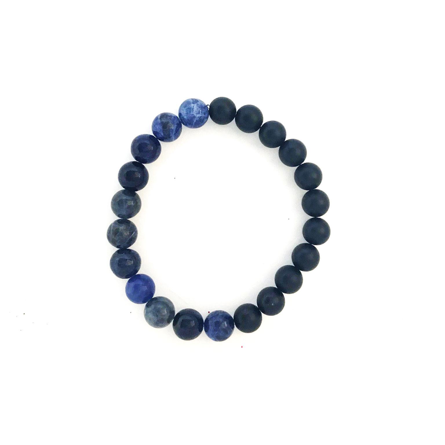 8mm Sodalite Onyx Bracelet