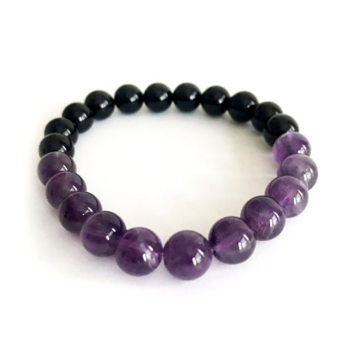 8mm Shiny Amethyst Bracelet