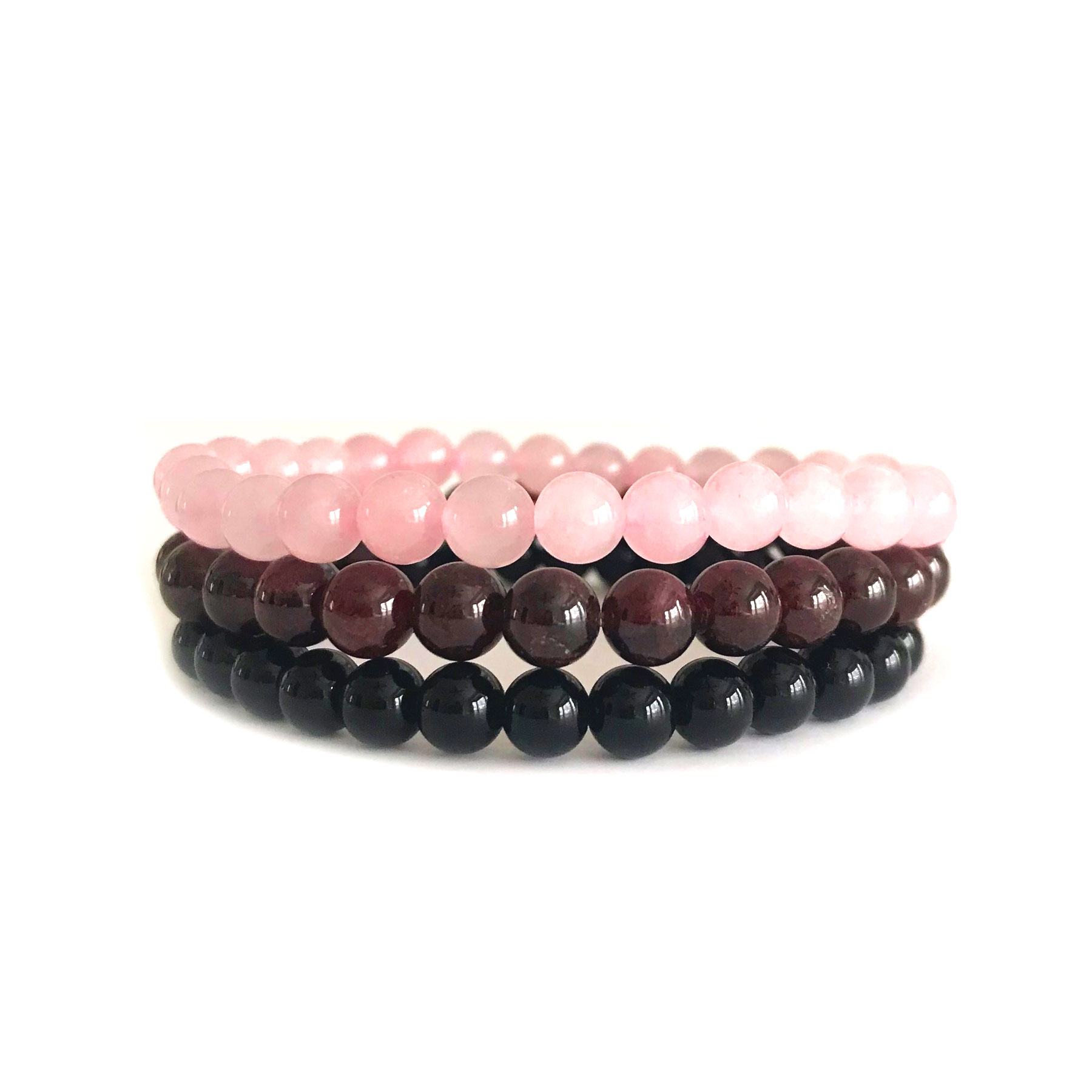 Rose Quartz and Garnet Love Stack