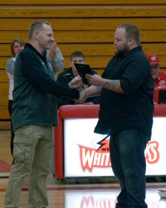 Mound-Westonka Todd Coach Munsterteiger with Chuck Hediger.