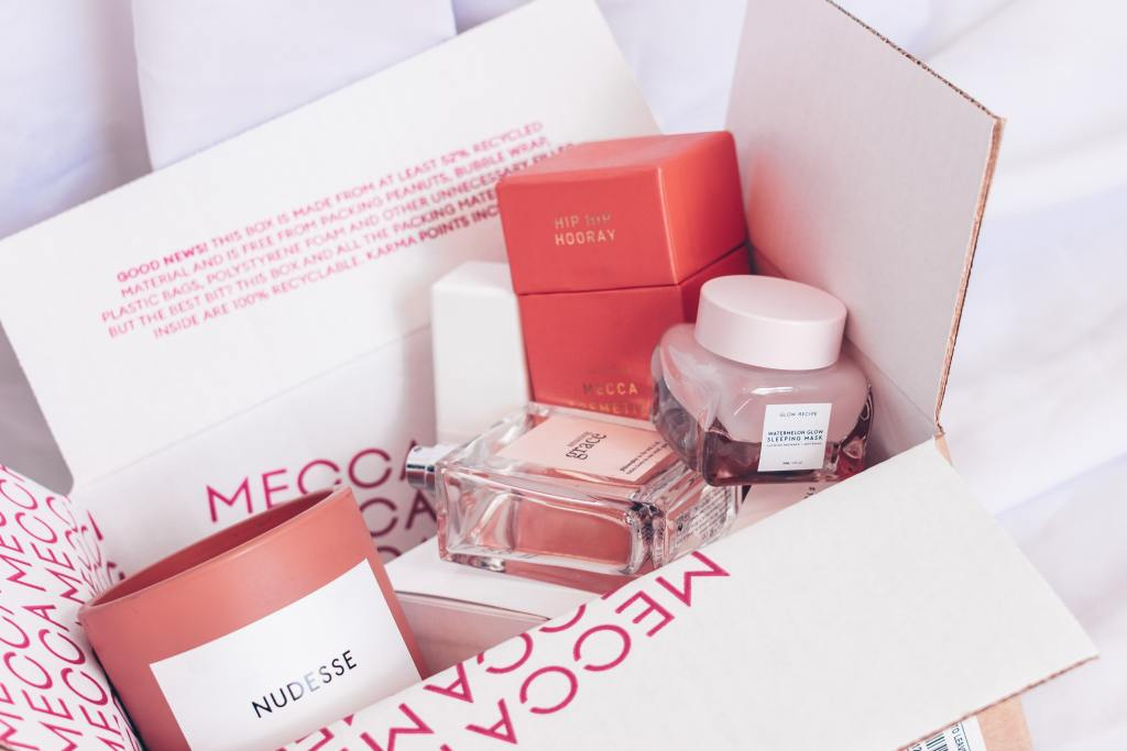 box of sustainable beauty products