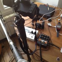 Video setup to record gear reviews
