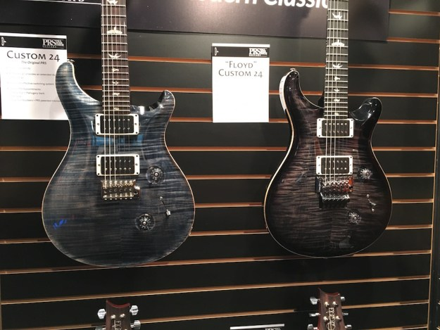 PRS guitars at the 2016 Winter NAMM