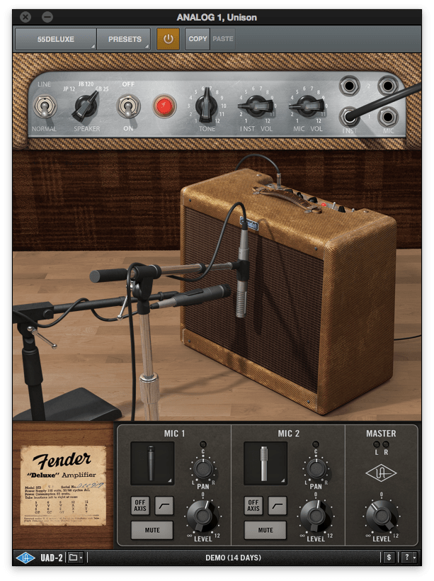 Universal Audio Fender '55 Tweed Deluxe plugin review