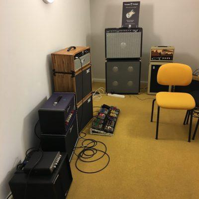 Festival de Guitare de Puteaux 2018 - Individual studio to try the gear