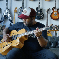 Kirk Fletcher interview with T-Bone Walker 1949 Gibson ES-5N in hand - Joe Bonamassa guitar player and more