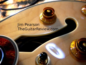 Epiphone Sheraton F Hole Original Knob Detail Jim Pearson