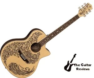 Luna Henna Paradise Acoustic-Electric Guitar
