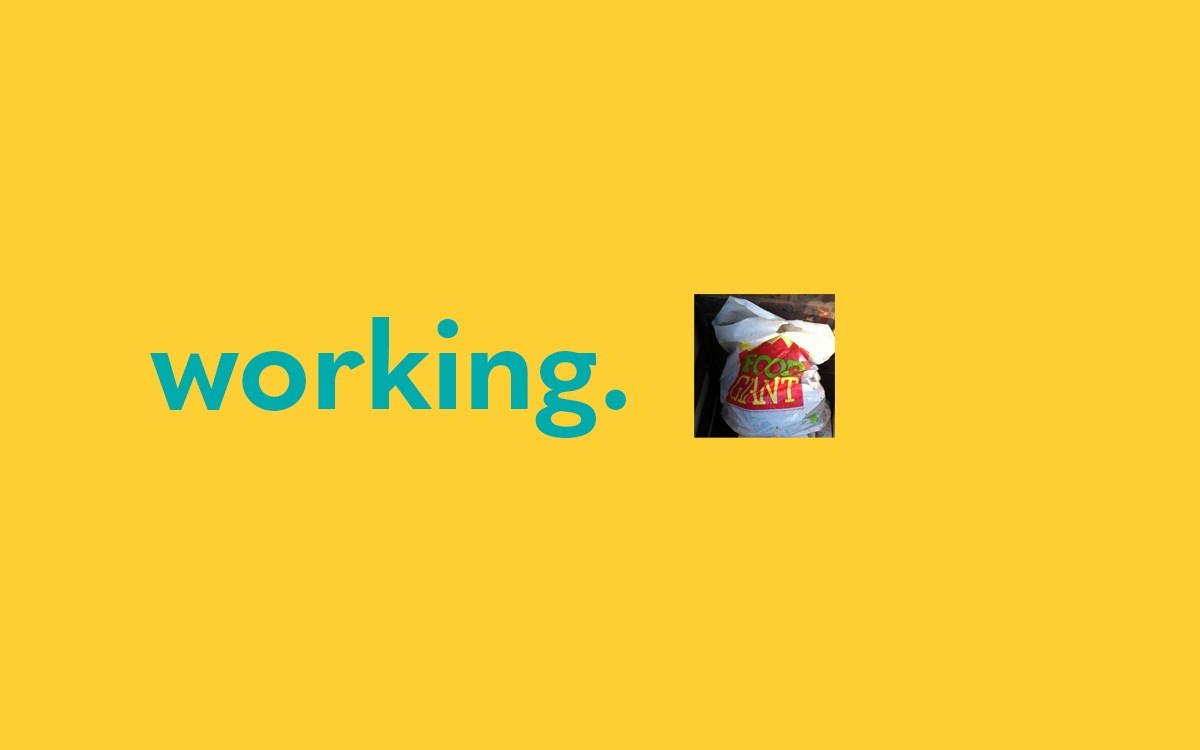 Image of the word 'working'