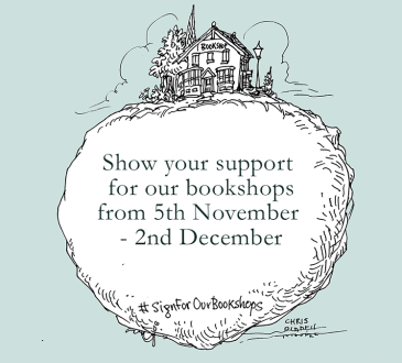 Sign for our bookshops bookplate design