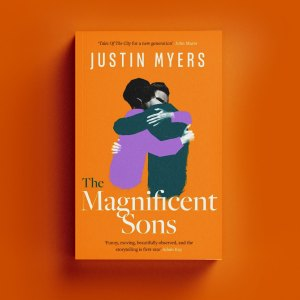 The Magnificent Sons cover on an orange background