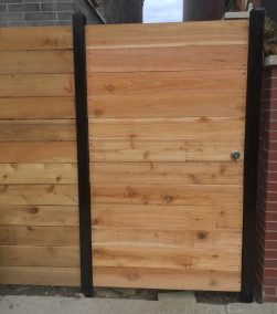 Horizontal with powder coated posts