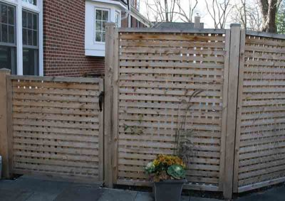 Square Lattice Fence with 1 Inch Opening 2