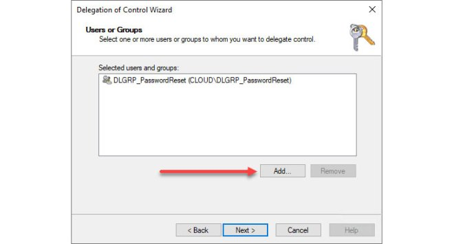 Choose the users and groups who will assume the permissions
