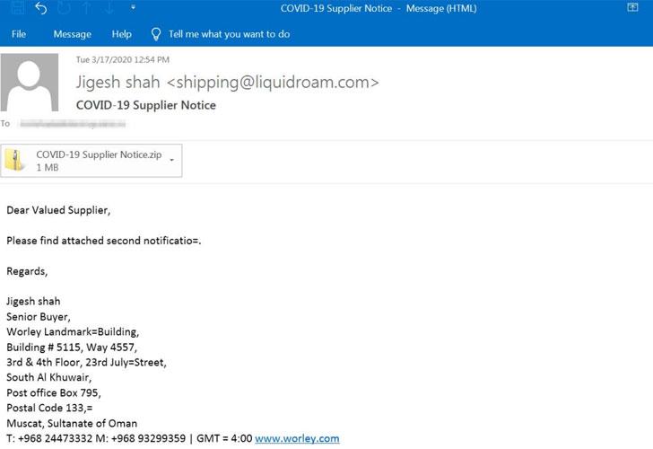 phishing email malware