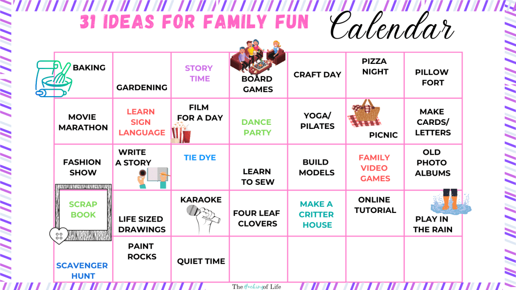 31 Days of Family Fun Activity Calendar
