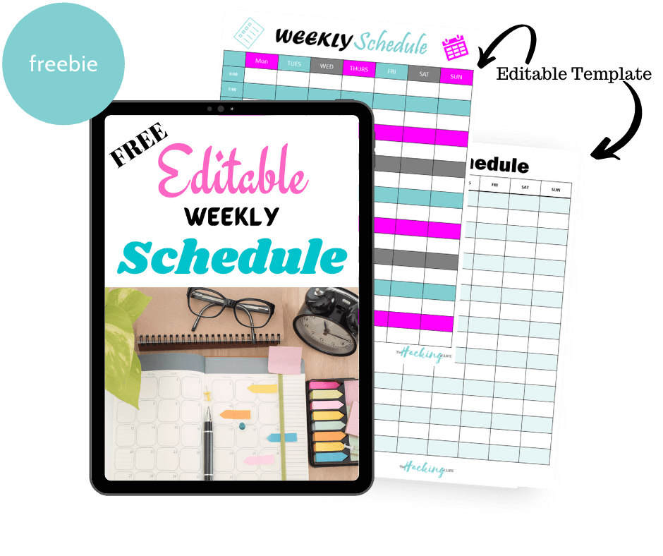 Editable Weekly Schedule Mockup