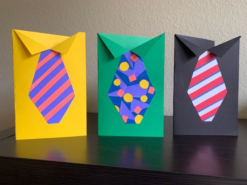 DIY Father's Day Tie Cards by www.honeyandlime.co