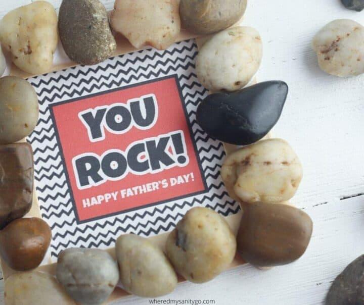 DIY DAD ROCKS CARD FOR FATHERS DAY by wheredmysanitygo.com