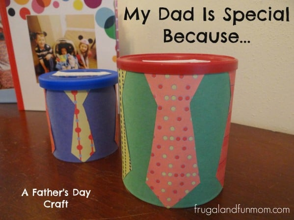 My Dad Is Special Because Craft, Upcycled Gift For Father's Day! by funlearninglife.com