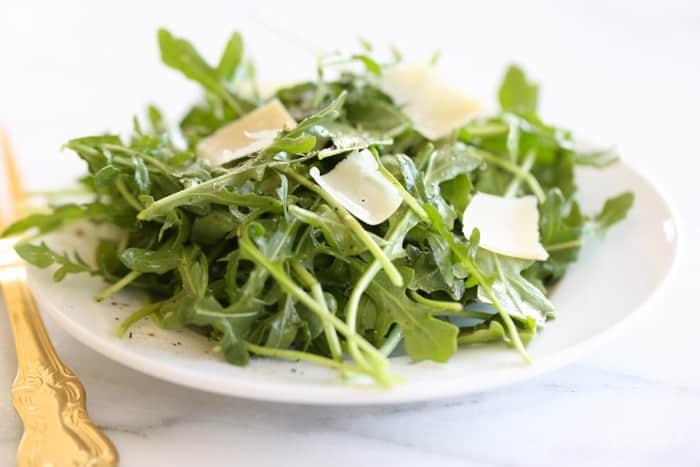 Arugula Salad with Lemon Vinaigrette by Julieblanner.com