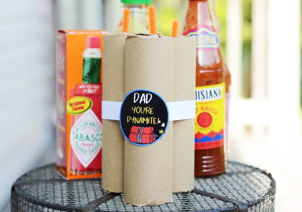 Father's Day Hot Sauce Gift DIY by downredbuddrive.com