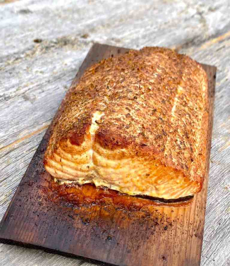 Grilled Salmon on a Cedar Plank by theartoffoodandwine.com