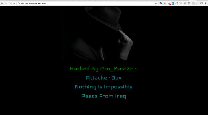 Donald Trump Website Hacked