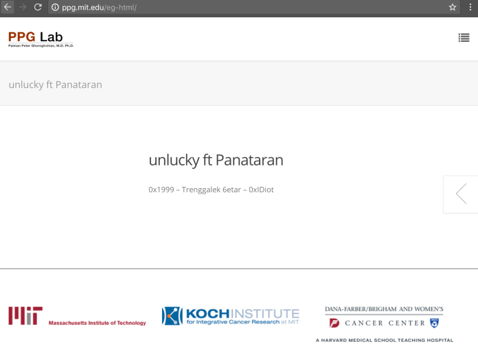 Screenshot of ppg.mit.edu rehacked by Panataran
