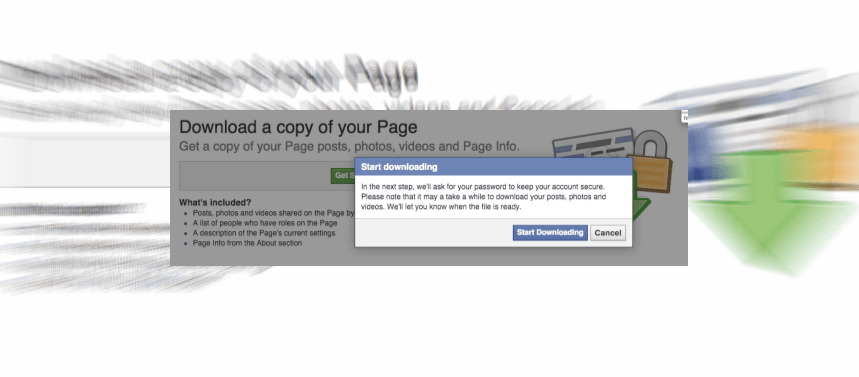 Backup your Facebook Page Setting, Information and Posts