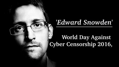 Photo of Edward Snowden — World Day Against Cyber Censorship 2016