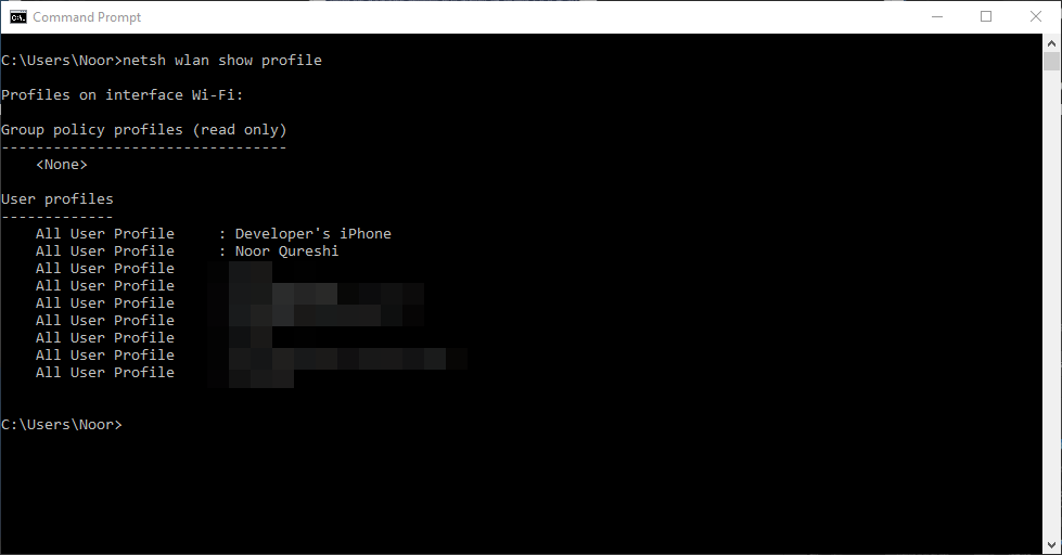 How To Find Passwords of All Connected Wi-Fi Networks using CMD