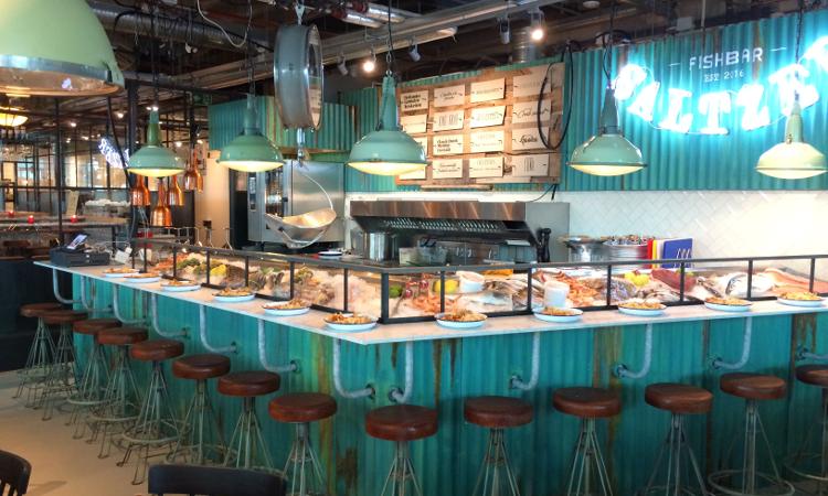 Grand Central Food Market   Fish-, burger- en wijnbar