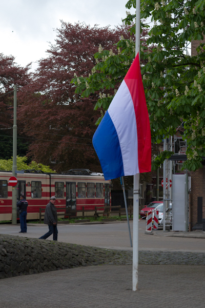 Netherlands Flag Half Mast on Remembrance Day