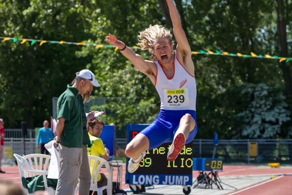 Athlete - Mens Long Jump (Verspringen). Nederlands Kampioenschap Teams Senioren 2013