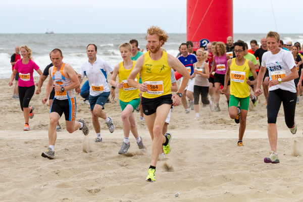 Runners at the start of the Beach Challenge - Beach Run 5K.