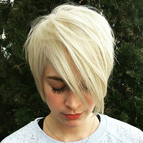 White Pixie with Long Fringe