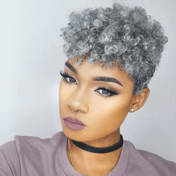 Awesome short black hairstyles with color 2
