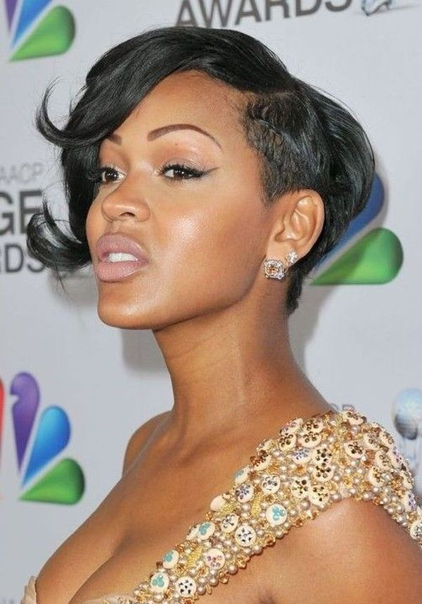 Black women short hairstyles with bangs 3